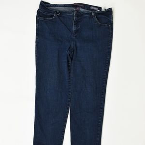 Gloria Vanderbilt Plus 18W Blue   Straight Cotton